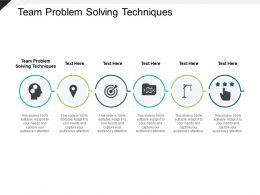 Team Problem Solving Techniques Ppt Powerpoint Presentation Model Samples Cpb