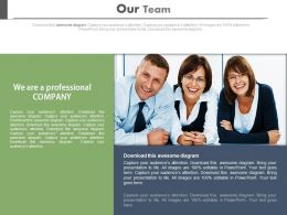 Team Professionals For Company Profile Assessment Powerpoint Slides
