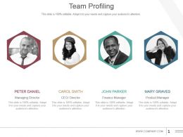 Team Profiling Powerpoint Slide Templates Download