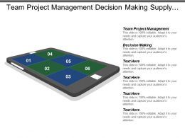 Team Project Management Decision Making Supply Chain Personality Traits