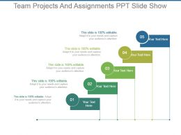 Team Projects And Assignments Ppt Slide Show