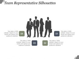 Team Representative Silhouettes Powerpoint Slide Presentation Examples