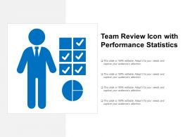 Team Review Icon With Performance Statistics
