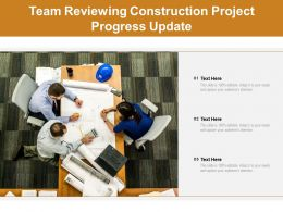 Team Reviewing Construction Project Progress Update