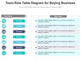 Team Role Table Diagram For Buying Business Infographic Template