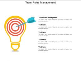 Team Roles Management Ppt Powerpoint Presentation Inspiration Summary Cpb
