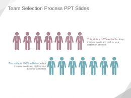 Team Selection Process Ppt Slides