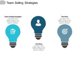 Team Selling Strategies Ppt Powerpoint Presentation Show Outfit Cpb