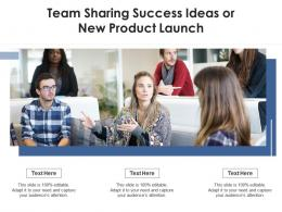 Team Sharing Success Ideas Or New Product Launch