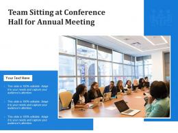 Team Sitting At Conference Hall For Annual Meeting