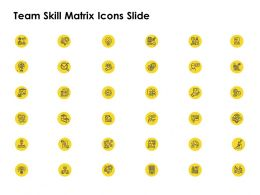Team Skill Matrix Icons Slide L1256 Ppt Powerpoint Presentation Styles
