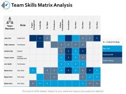 Team Skills Matrix Analysis Ppt Portfolio Objects
