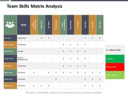 Team Skills Matrix Analysis Ppt Show Example Introduction