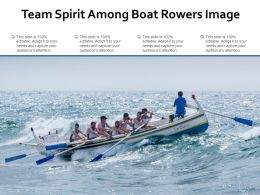 Team Spirit Among Boat Rowers Image