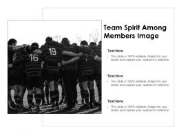 Team Spirit Among Members Image