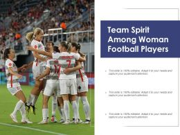 Team Spirit Among Woman Football Players