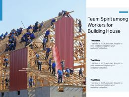 Team Spirit Among Workers For Building House