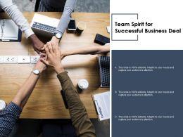 Team Spirit For Successful Business Deal