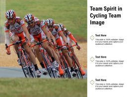 Team Spirit In Cycling Team Image