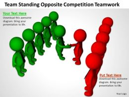 Team Standing Opposite Competition Teamwork Ppt Graphics Icons Powerpoint