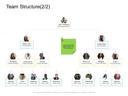 Team Structure Managing Company Management Ppt Brochure