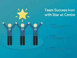 Team Success Icon With Star At Centre