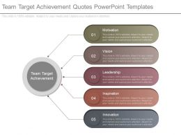 Team Target Achievement Quotes Powerpoint Templates