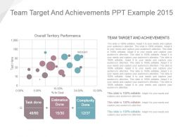 Team Target And Achievements Ppt Example 2015