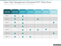 Team Task Management Worksheet Ppt Slide Show