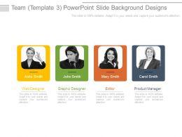 Team Template3 Powerpoint Slide Background Designs