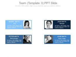 Team Template3 Ppt Slide