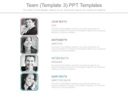 Team Template3 Ppt Templates