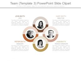 Team Template 3 Powerpoint Slide Clipart