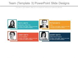 Team Template 3 Powerpoint Slide Designs