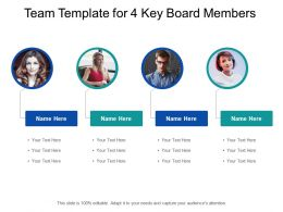 Team Template For 4 Key Board Members