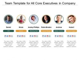 Team Template For All Core Executives In Company