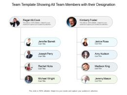 Team Template Showing All Team Members With Their Designation