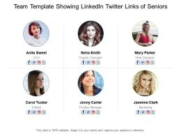 Team Template Showing Linkedin Twitter Links Of Seniors