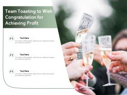 Team Toasting To Wish Congratulation For Achieving Profit