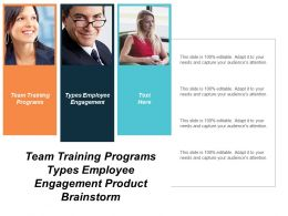 Team Training Programs Types Employee Engagement Product Brainstorm Cpb