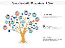 Team Tree With Coworkers Of Firm