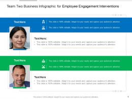 Team Two Business For Employee Engagement Interventions Infographic Template