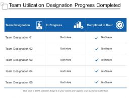Team Utilization Designation Progress Completed