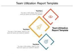 Team Utilization Report Template Ppt Powerpoint Presentation Ideas Cpb