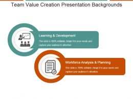 Team Value Creation Presentation Backgrounds