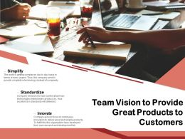 Team Vision To Provide Great Products To Customers