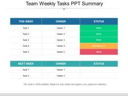 team_weekly_tasks_ppt_summary_Slide01