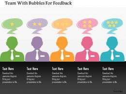 Team With Bubbles For Feedback Flat Powerpoint Design