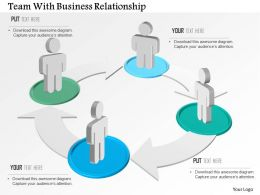 Team With Business Relationship Powerpoint Template