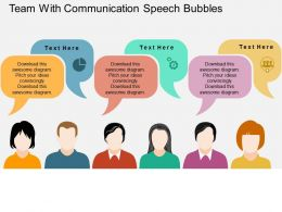 team_with_communication_speech_bubbles_flat_powerpoint_design_Slide01